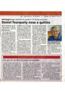 2015 02 19_Daniel TEURQUETY nous à quittés_Nécrologie Le Journal d'Elbeuf